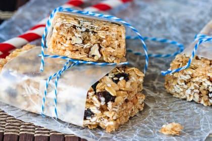 Oatmeal Raisin No Bake Granola Bars
