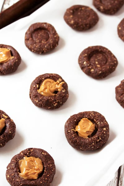 Gluten Free Chocolate Thumbprint Cookies Pic