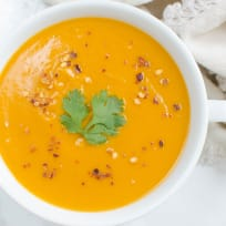Paleo Coconut Curry Butternut Squash Soup Recipe