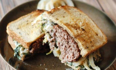 Spinach Artichoke Patty Melt Recipe