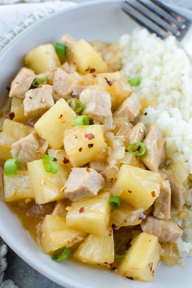 Paleo Pork Pineapple Stir Fry Picture