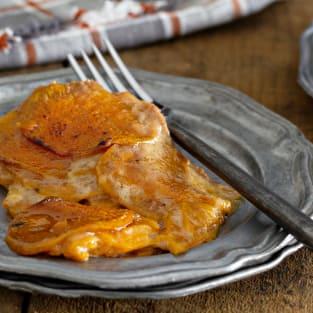 Sweet potato gratin photo