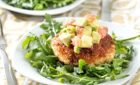 Crispy Crab Cakes with Avocado Grapefruit Salsa Recipe