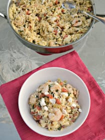 Shrimp and Artichoke Orzo: An Easy Meal with Pantry Staples