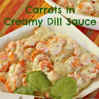 Carrots in Creamy Dill Sauce