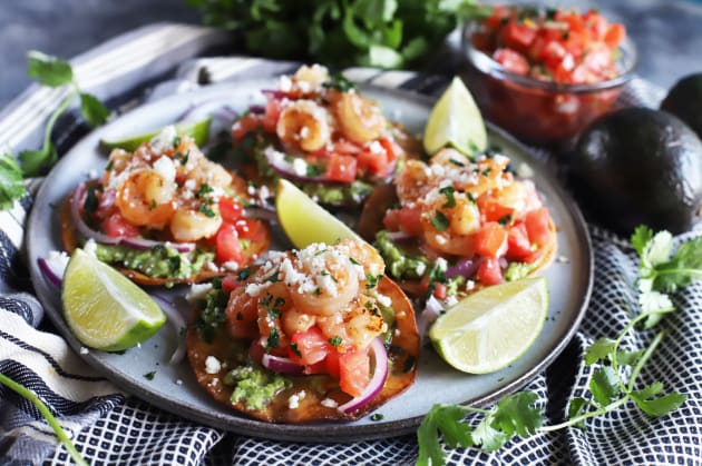 Honey Lime Shrimp and Guacamole Tostadas Photo