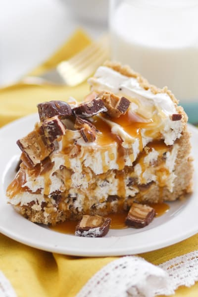 No Bake Peanut Butter Snickers Cheesecake Image