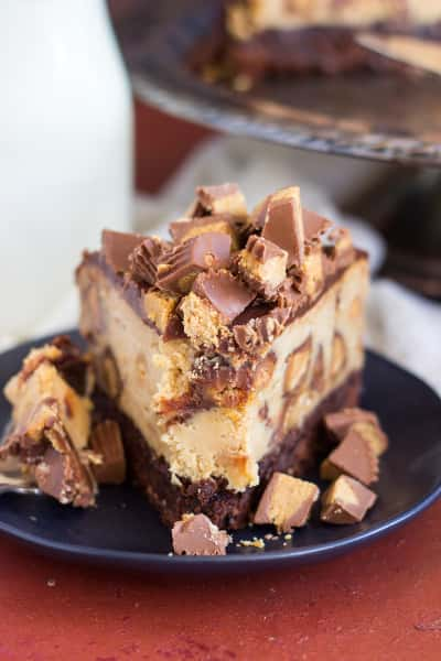 Peanut Butter Cup Brownie Cheesecake Pic