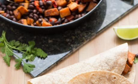 Sweet Potato and Black Bean Tacos Image