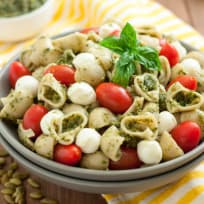 Gluten Free Pasta Salad with Pumpkin Seed Pesto Recipe