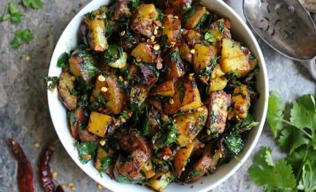 Potato Salad with Moringa Leaves Recipe