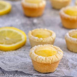 Lemon sugar cookie cups photo