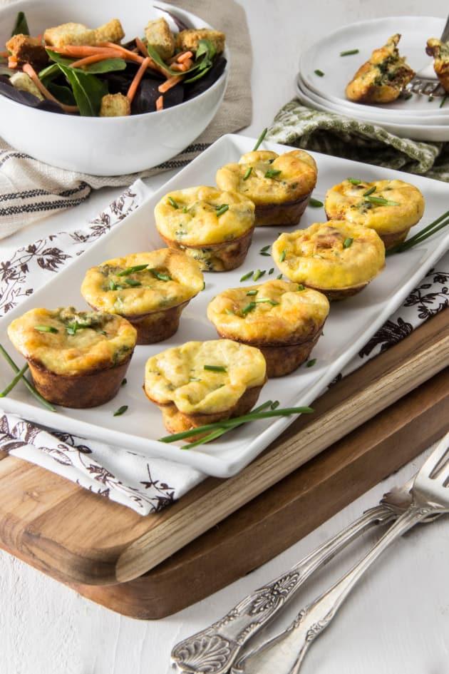 Spinach Artichoke Mini Frittatas Image