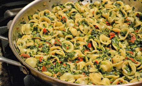 Pasta Florentine with Orecchiette