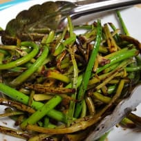 Balsamic Roasted Garlic Scapes