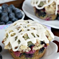 Blueberry Pecan Streusel Muffins
