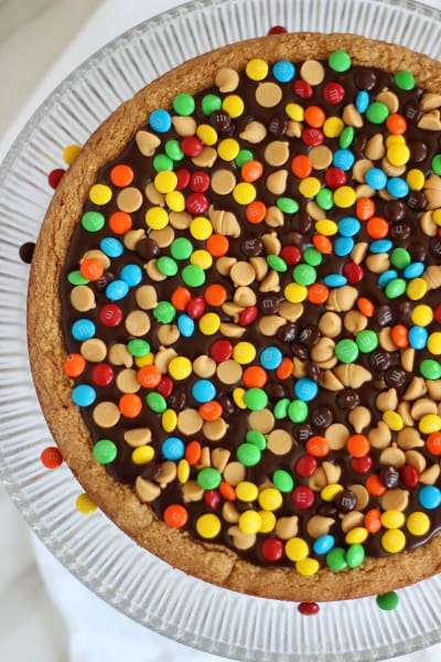 Chocolate Peanut Butter Cookie Pizza Picture