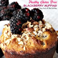 Healthy Gluten Free Blackberry Muffins