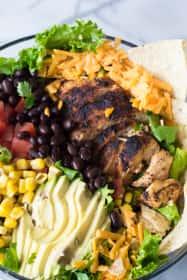 Chicken Taco Salad with Cilantro Ranch