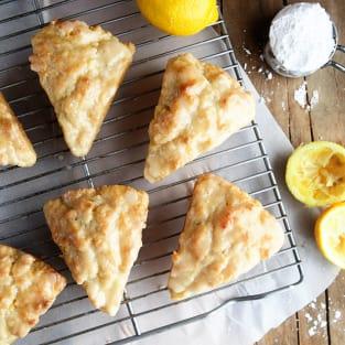 Lemon cream scones photo