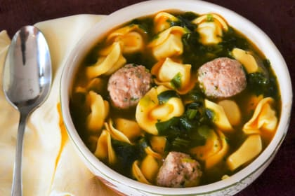 Meatball Tortellini Soup Recipe