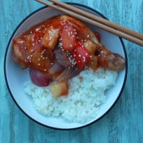 Sweet and Sour Chicken Tray Bake