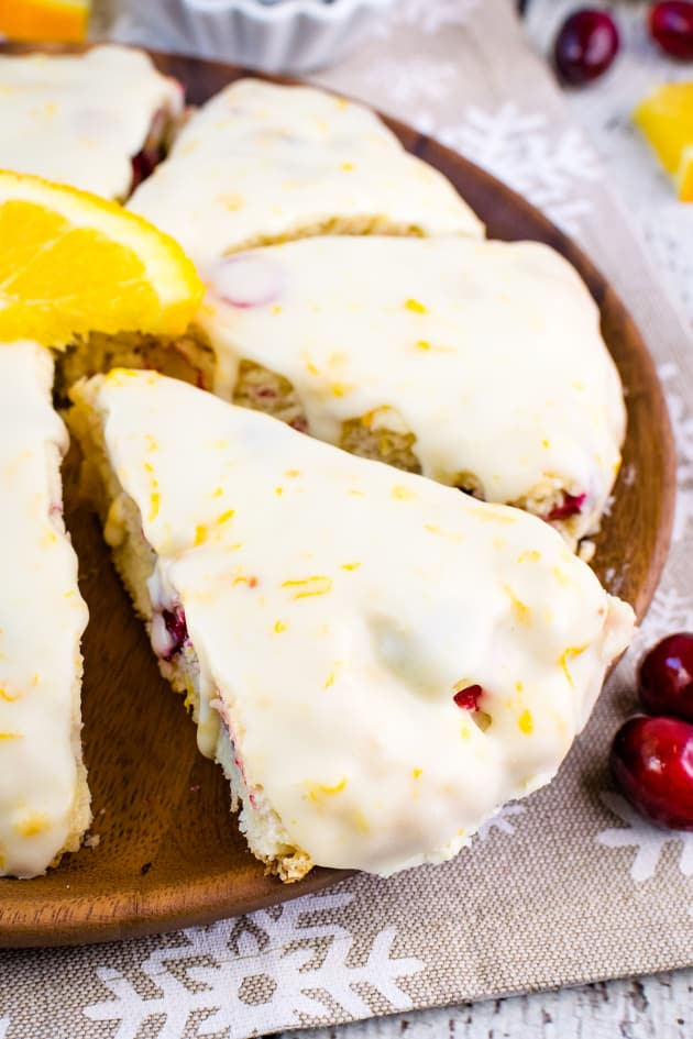 Glazed Cranberry Orange Scones Pic