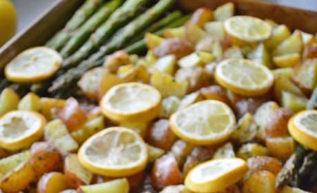 Lemon Chicken Asparagus Sheet Pan Dinner Pic