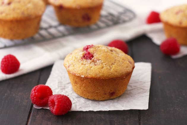 Raspberry Lemon Corn Muffins Photo