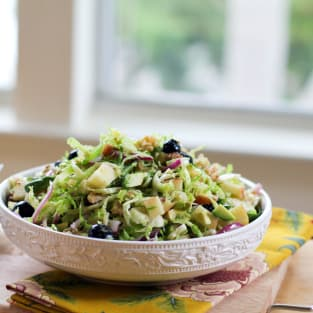 Shaved brussels sprouts salad photo