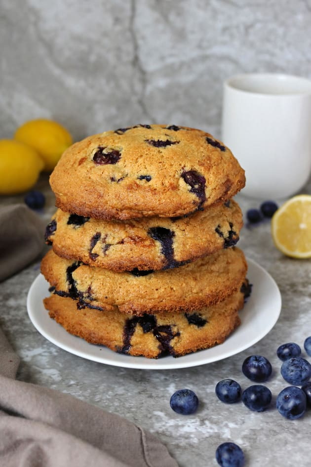Gluten Free Lemon Blueberry Muffin Tops Pic