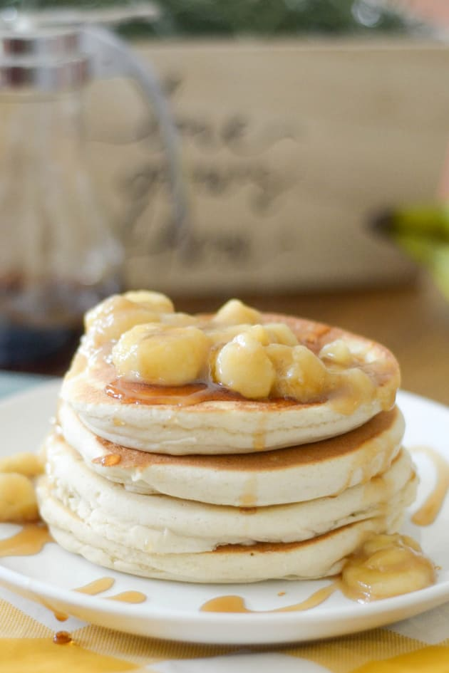 Gluten Free Bananas Foster Pancakes Picture
