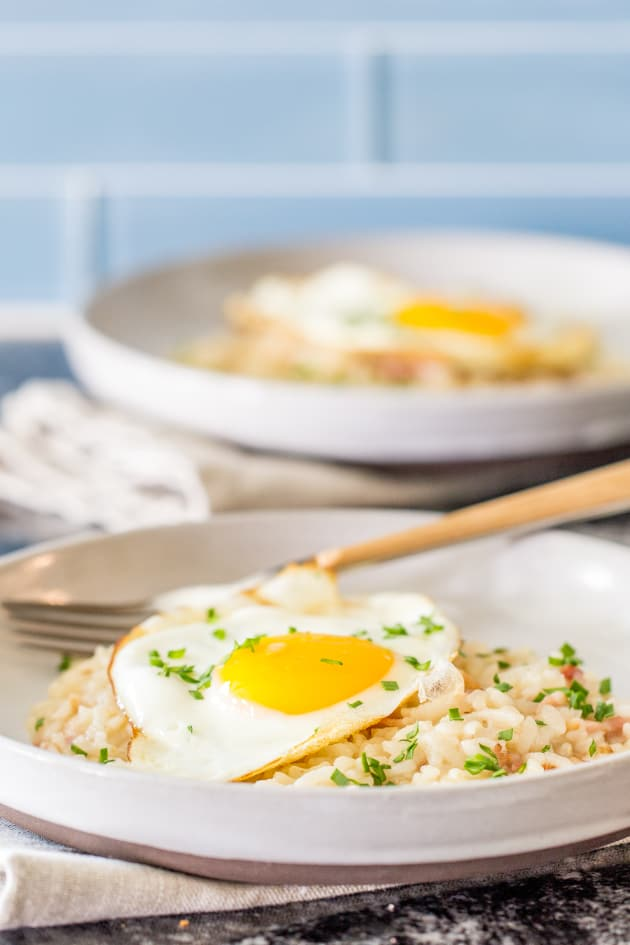 Bacon and Egg Risotto Picture - Food Fanatic