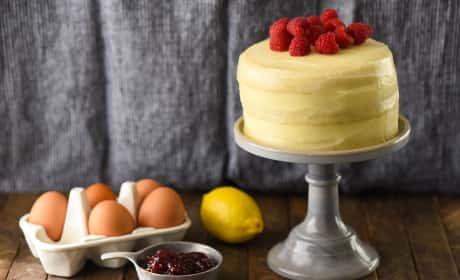 Lemon Raspberry Cake for Two Recipe