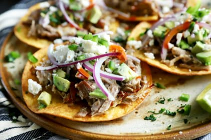 Instant Pot Crispy Carnitas Tostadas Recipe