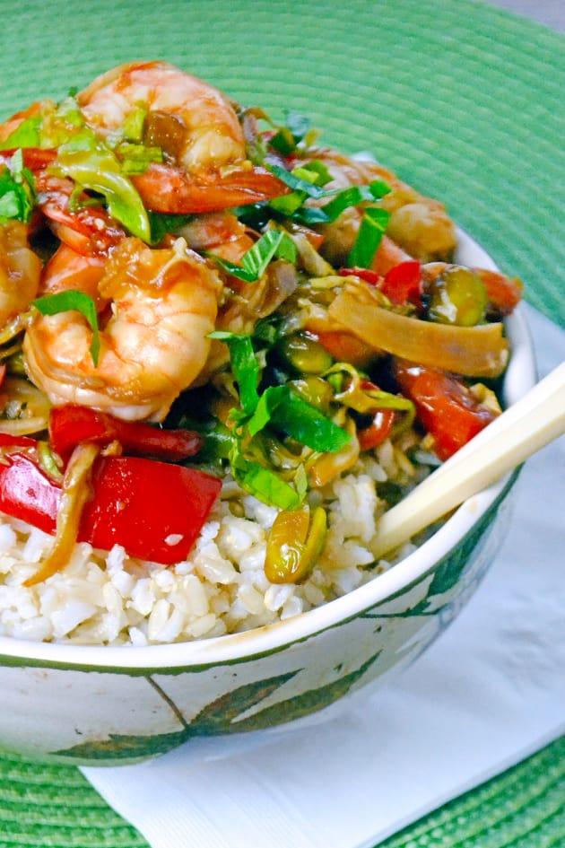 Asian Shrimp Rice Bowls Picture