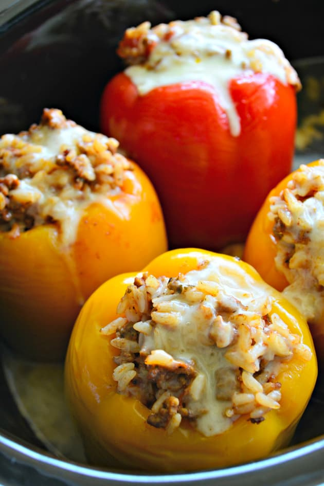 Slow Cooker Stuffed Peppers with Beef Pic