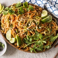 Thai Peanut Noodles with Spiralized Vegetables Recipe