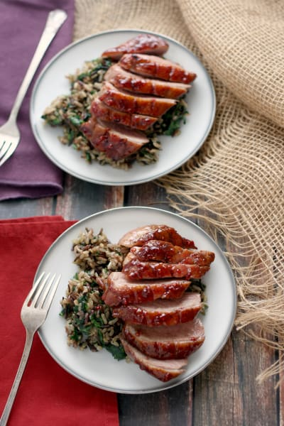 Whiskey Raspberry Glazed Duck Breasts Pic