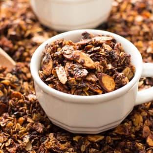 Nutella almond granola photo