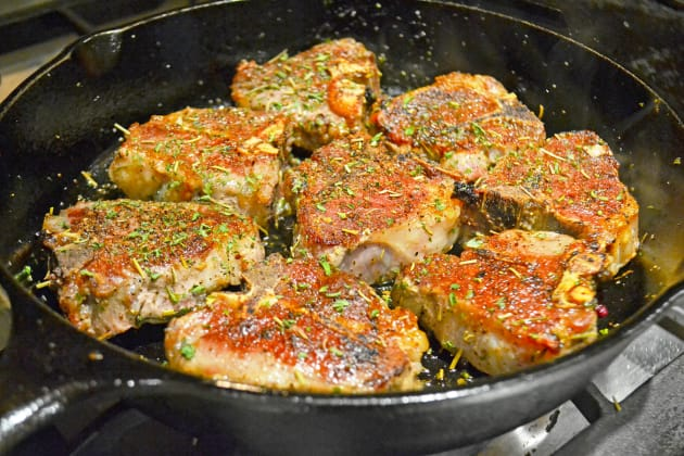 Pan Fried Lamb Chops with Rosemary Pic