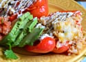 Slow Cooker Shredded Chicken Taco Stuffed Peppers