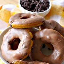 Pumpkin Chocolate Chip Donuts
