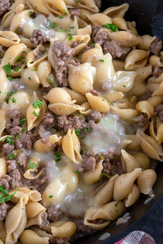 Philly Cheesesteak Pasta Image
