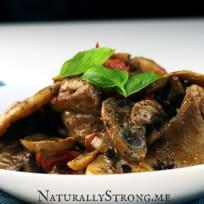 Pork Belly With Mushrooms (Keto Bulking Recipe)