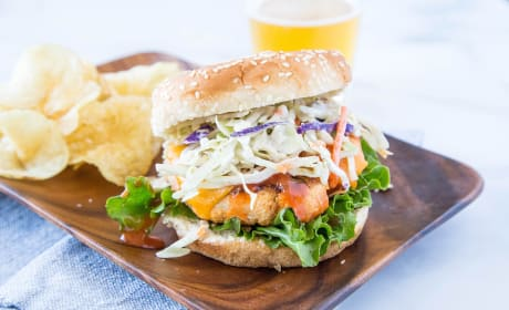 Buffalo Chicken Burger Photo