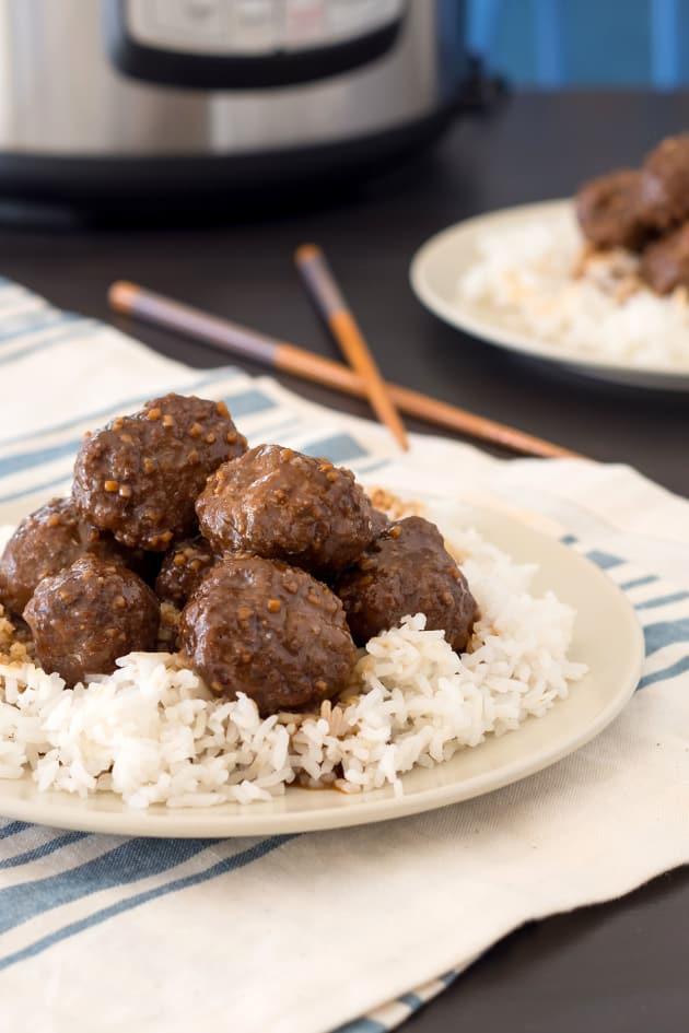 Instant Pot Gluten Free Teriyaki Meatballs Image