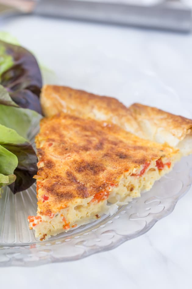 Roasted Red Pepper Quiche Image