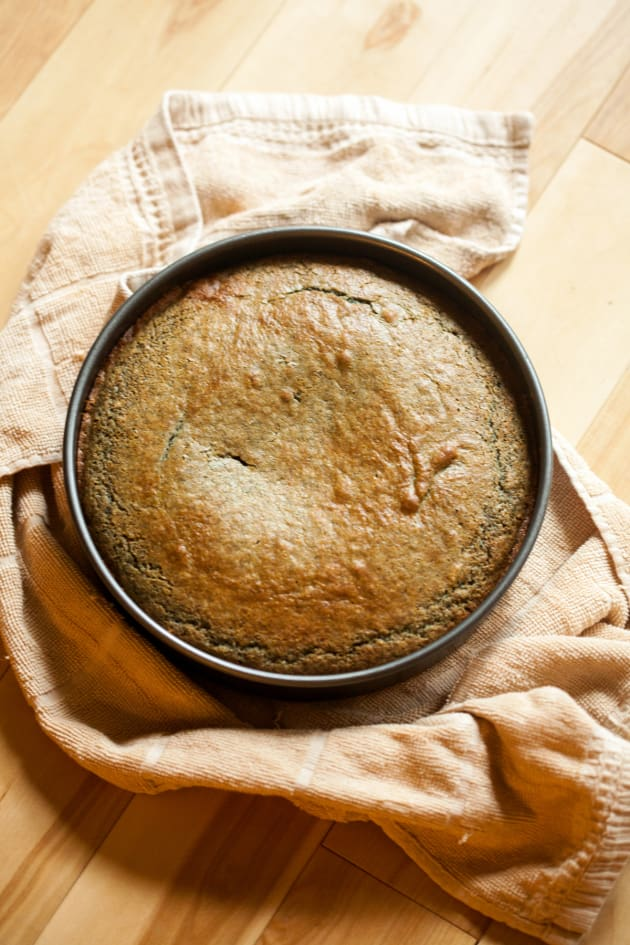 Blueberry Cornmeal Cake Image