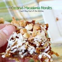 Coconut Macadamia Blondies